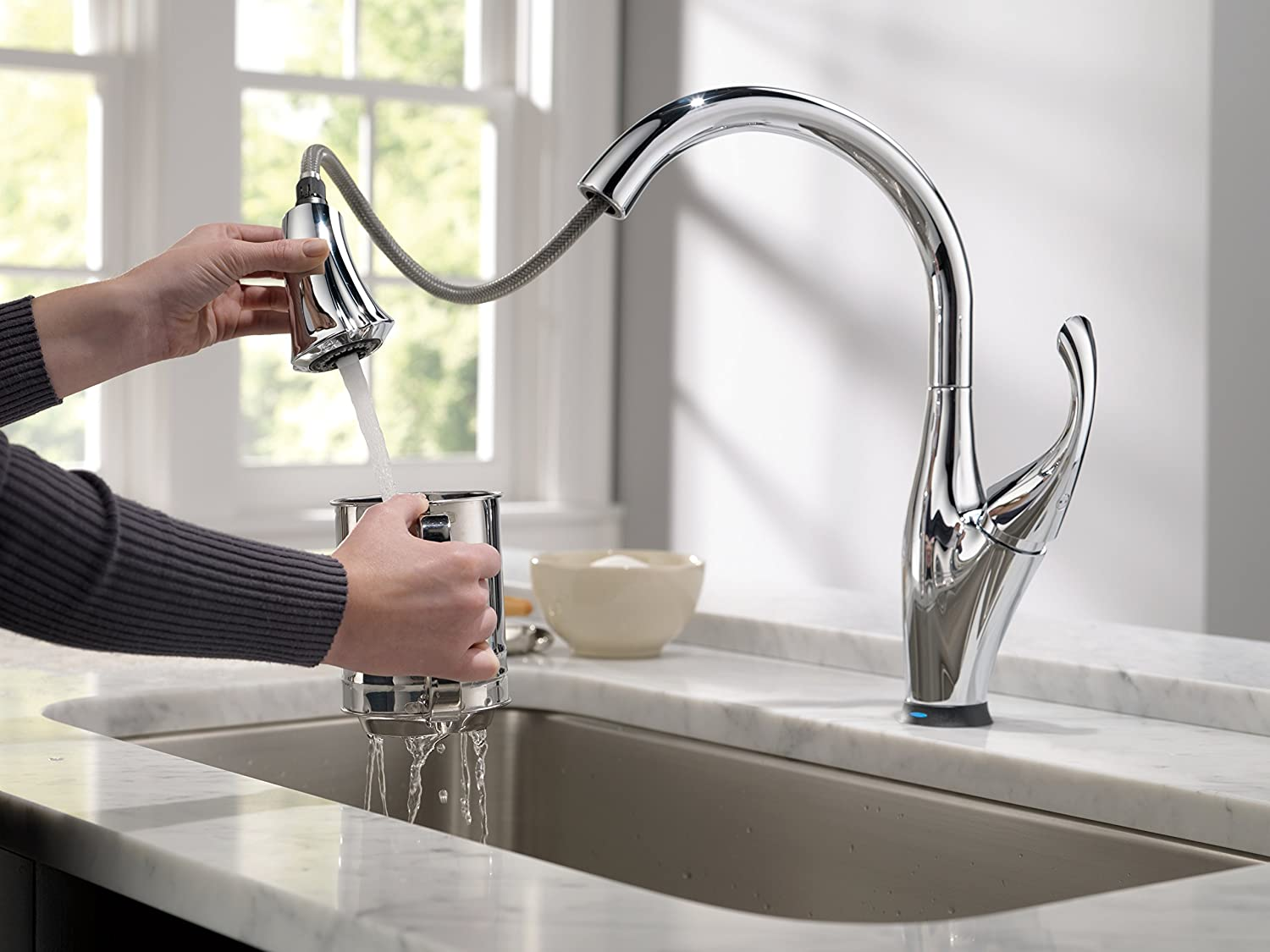 Delta Touch2o Kitchen Faucet Delta Faucet 9192t Dst Addison Single Handle Pull Down Kitchen