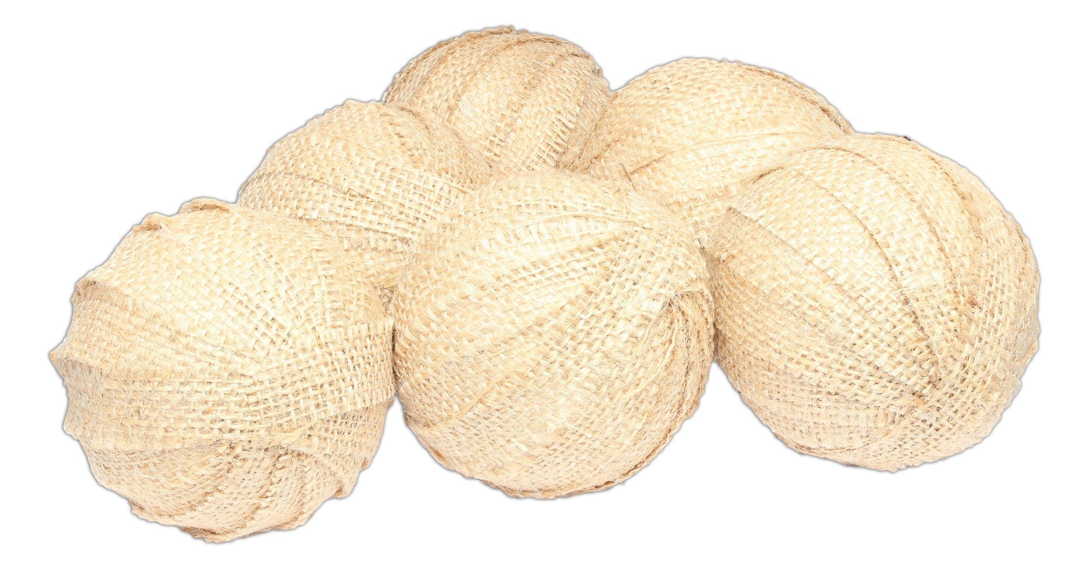 The Country House Collection Large Burlap Rag Balls - Set of 6