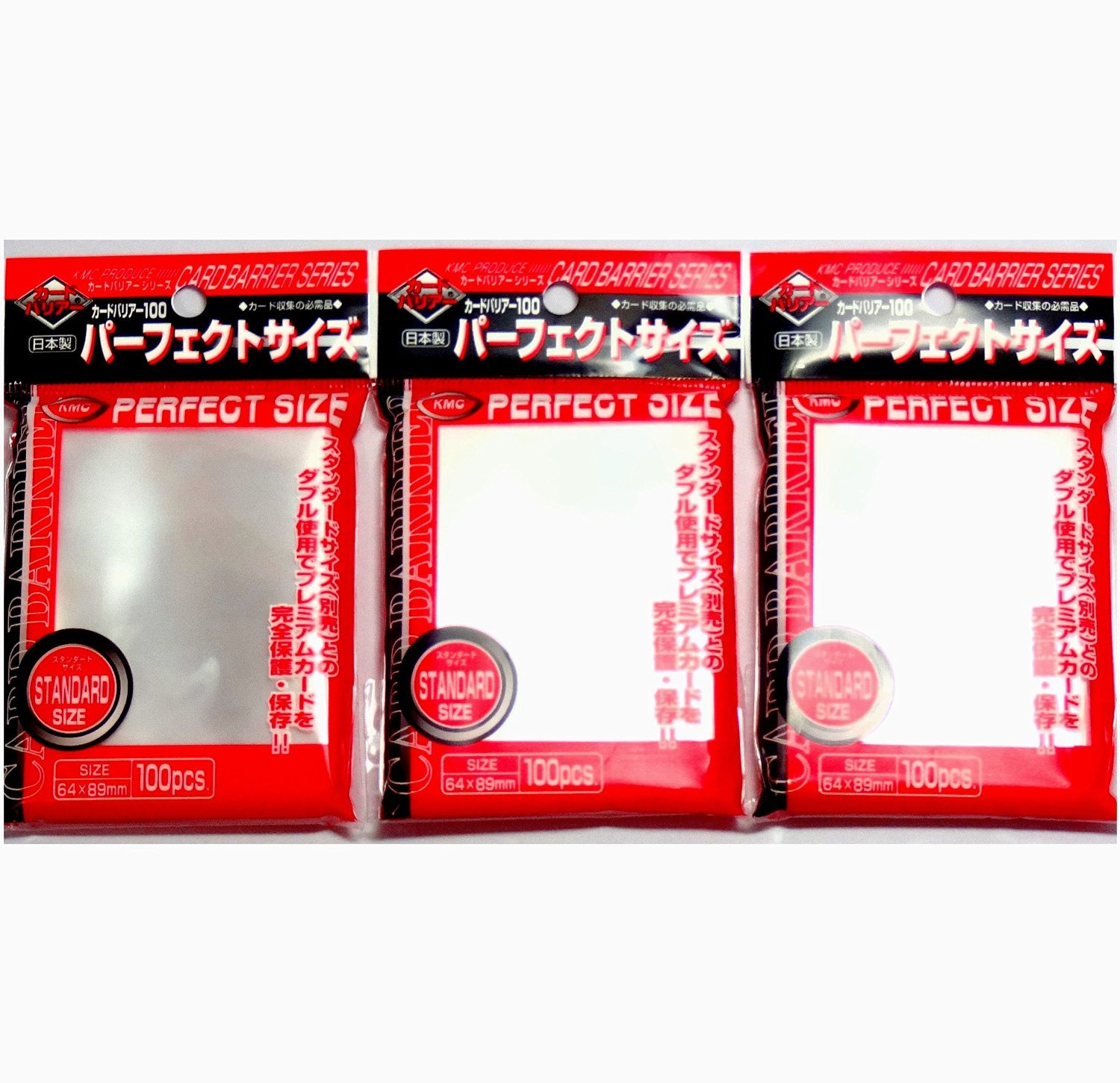 3 Pack//Total 300 Pochettes Komainu-Dou Original Package KMC 100 Pochettes Card Barrier Perfect Size Soft Sleeves