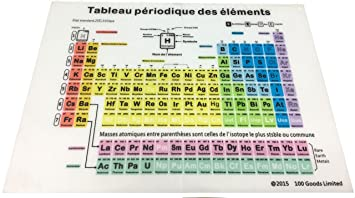 Amazon 100 goods silicone periodic table of elements all 100 goods silicone periodic table of elements all weather placement in french 114 x urtaz Image collections