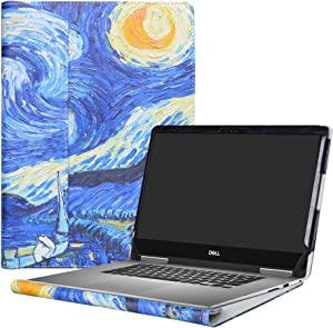 """Alapmk Protective Case Cover for 13.3"""" Dell Inspiron 13 2-in-1 7373 i7373 / Inspiron 13 7370 i7370 Laptop(Warning:only fit Model 7373 7370),Starry Night"""