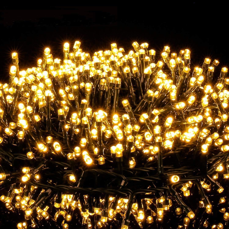Avoalre 2000er Led Lichterkette 50m Weihnachtsbeleuchtung Außen Lichterkette 8 Modi Ip44 Wasserdicht Lichterkette Für Weihnachten Garten Party Geburtstag Hochzeit Warmweiß Lichterkette Beleuchtung
