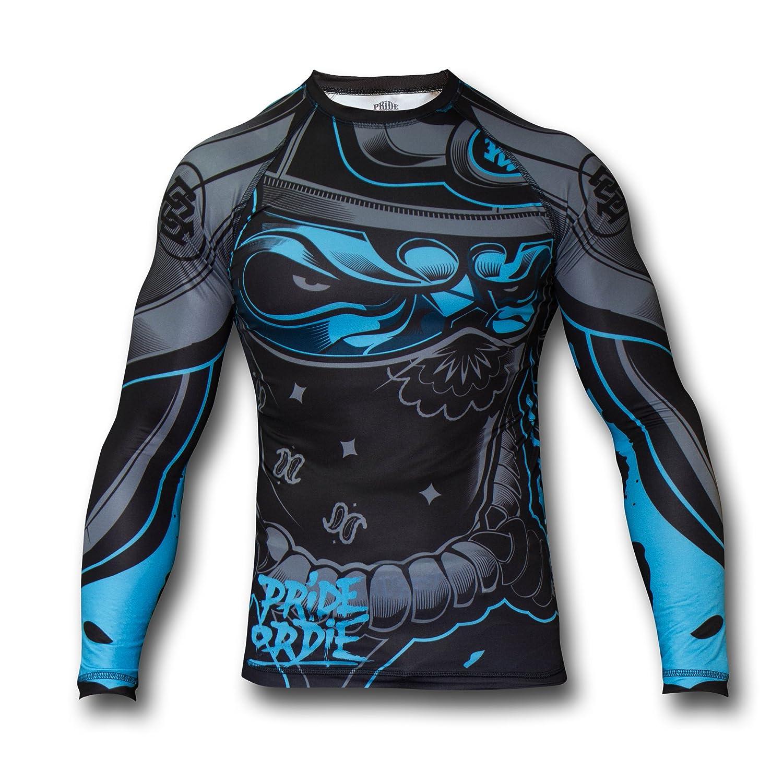Pride or Die Rashguard Ronin–Función Camiseta de Compresión Camiseta Rash Guard Hombre, Color Negro, Tamaño Medium