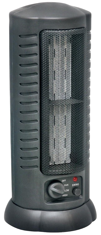 Comfort Zone Citadel Oscillating Ceramic Tower Heater/Fan