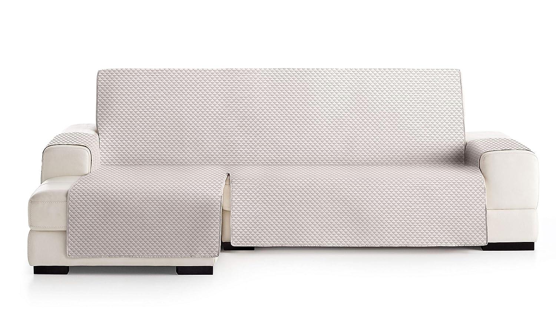 JM Textil Cubre Chaise Longue Acolchado Elena, Brazo Izquierdo, Tamaño 240cm, Color Crudo Crudo 00
