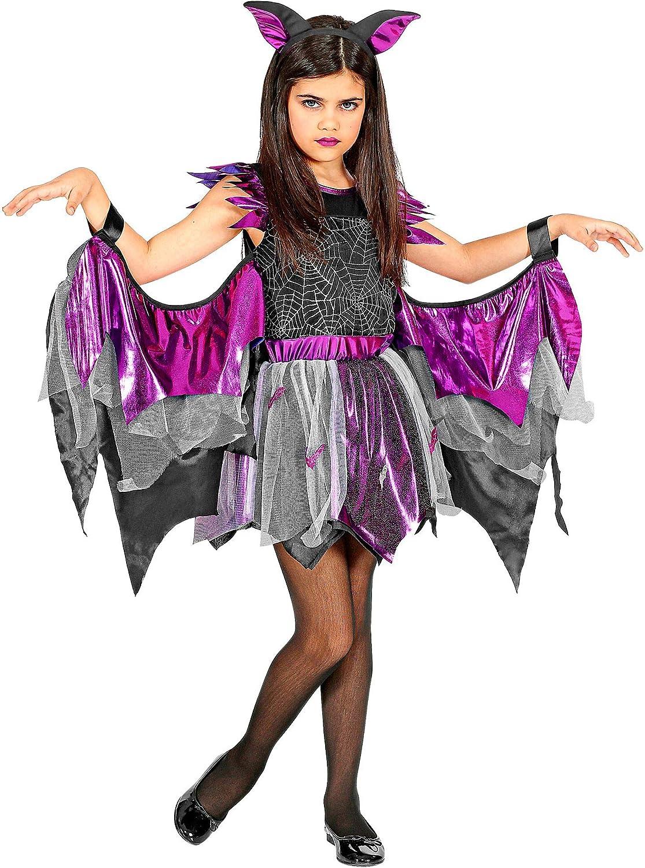 WIDMANN 00256 - Disfraz infantil de murciélago para niña (128 cm ...