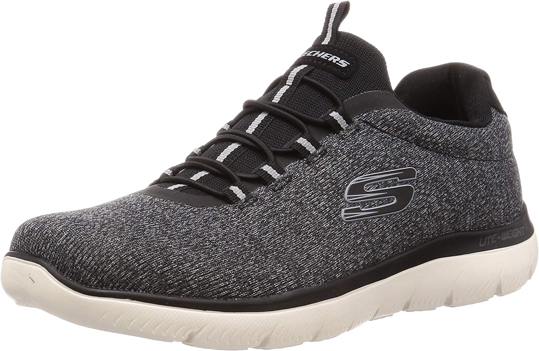 Peave atención nuez  Skechers Men Black 'Summits' Trainers: Amazon.co.uk: Shoes & Bags