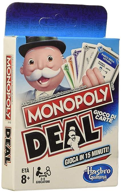 Amazon.com: Hasbro Monopoly Deal, Multi-Colour: Toys & Games