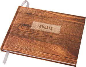 "Wedding Guest Book 9""x7"" (Rustic Design) - WGB-RST"