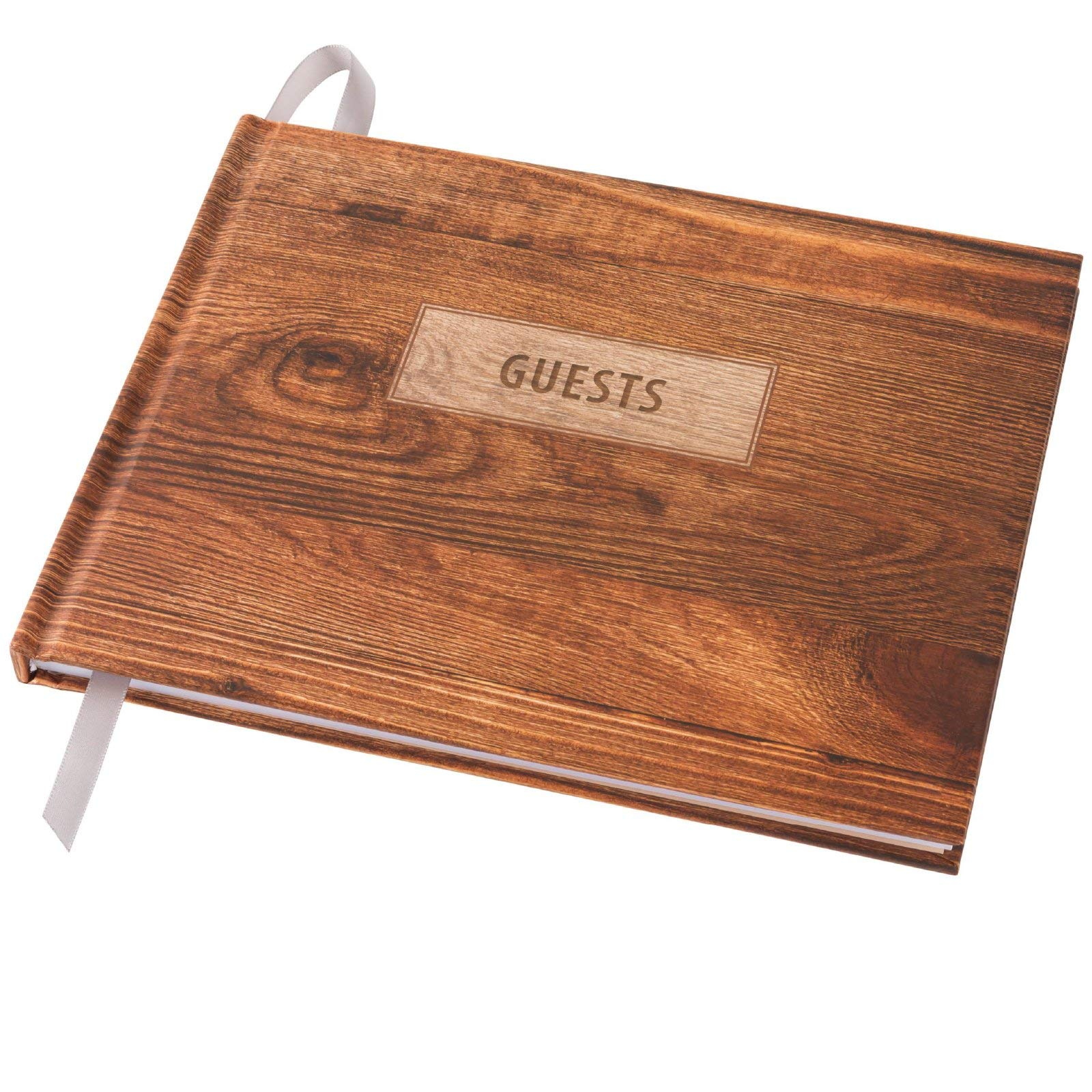 Wedding Guest Book 9''x7'' (Rustic Design) by Global Printed Products (Image #6)
