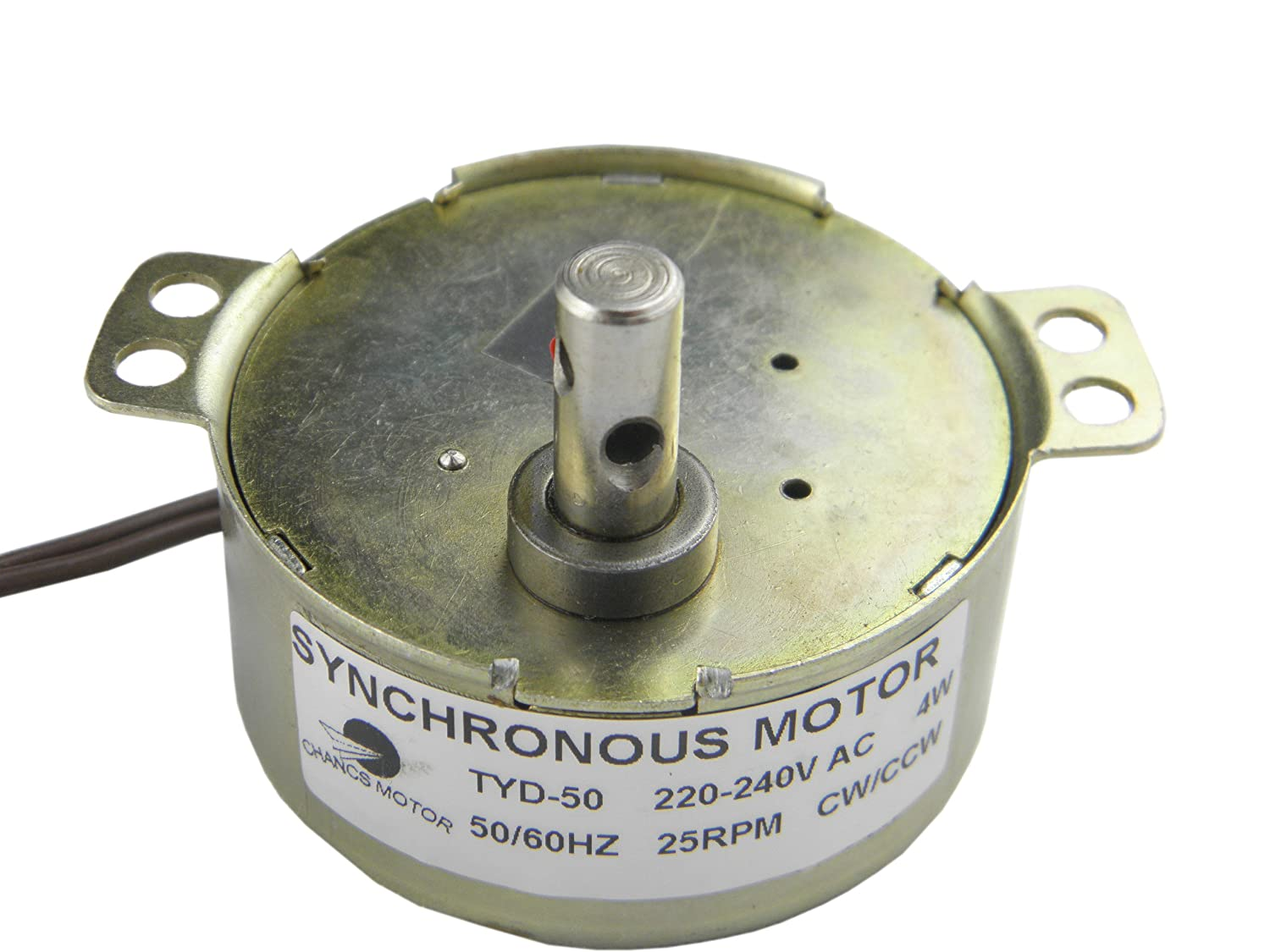 Tyd 50 Low Speed Synchronous Motor 25 Rpm 220 240v Cw Ccw Ac Small 220volt Rotari Gear Garden Outdoors