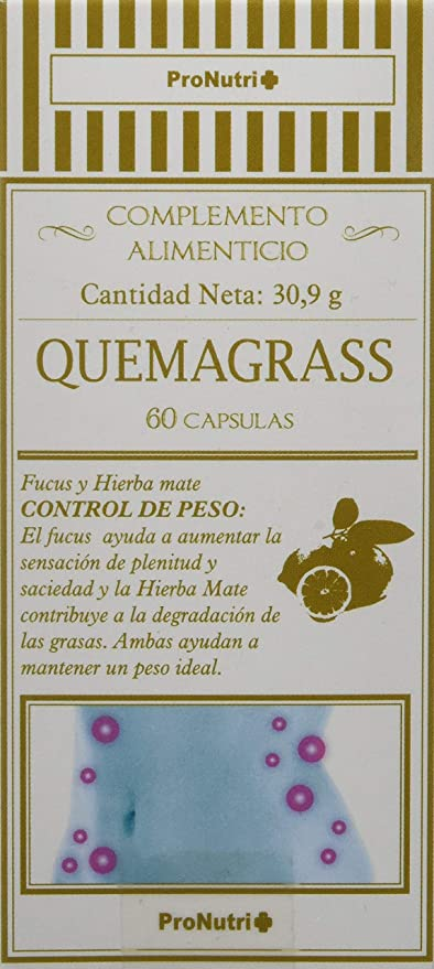 PRONUTRI - PRONUTRI Quemagrasas 60 cápsulas: Amazon.es ...