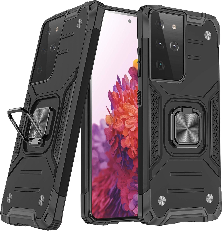 NAmobile /Étui de protection compatible pour Samsung Galaxy S21 Ultra 5G avec brassard de sport jogging Noir fitness