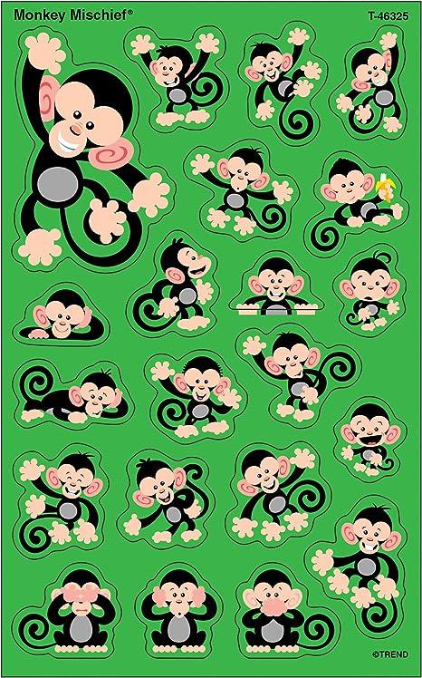 Color Monkeys superShapes Stickers T-46326 Large Trend Enterprises Inc