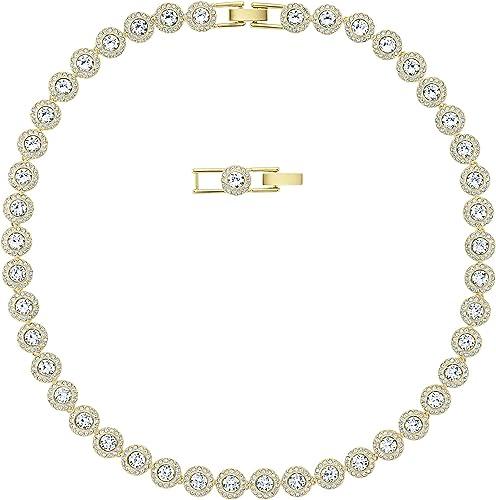 Swarovski Collier Angelic, blanc, Métal doré: Amazon.fr: Bijoux