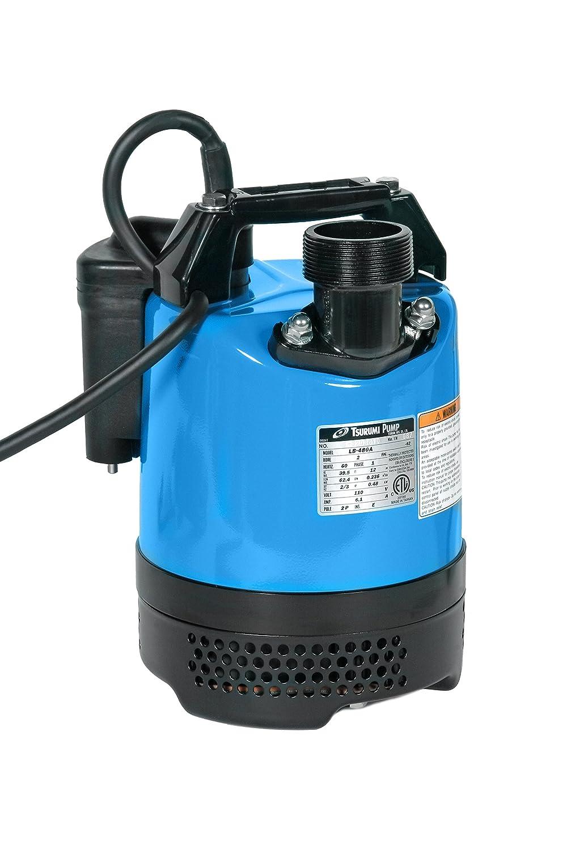 "Tsurumi LB-480A; Automatic Operation, Portable dewatering Pump, 2/3hp, 115V, 2"" Discharge"
