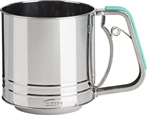 Trudeau Stainless Steel Flour Sifter, 5 cup, Mint Green