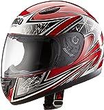 Protectwear Casque moto pour enfant, rouge/argenté, SA03-RT, Taille: XS / Youth L (52/53 cm)