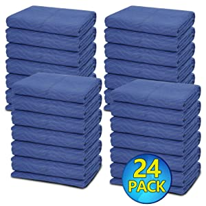 ZENY 24 Moving Blankets Packing Blanket Quilted Shipping Furniture Pads 80''x 72'' Moving Supplies,Furniture Protection and Pack Blankets