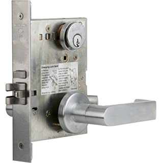 Schlage L9050P 06A 626 C123 Keyway Series L Grade 1 Mortise Lock, Office Function,