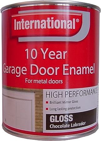 International Garage Door Enamel - Esmalte para puertas metálicas (750 ml), color marrón: Amazon.es: Bricolaje y herramientas