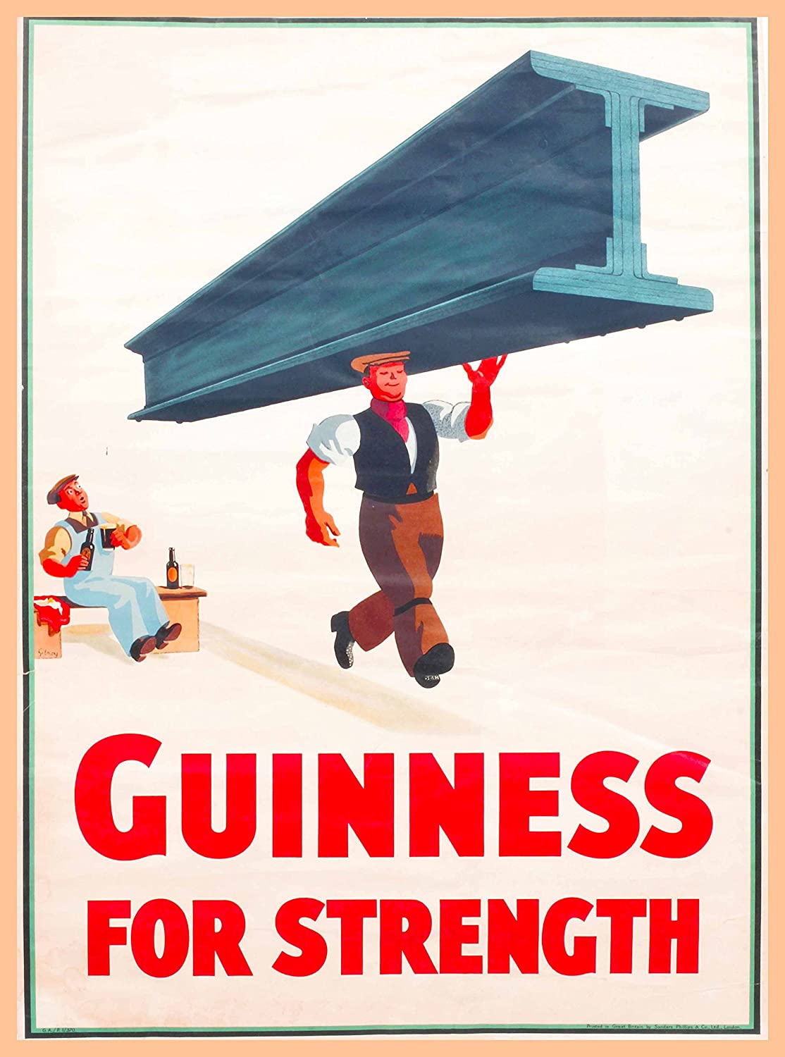 After Work Is Guinness Time Vintage Poster Print Art Irish Beer Advertising