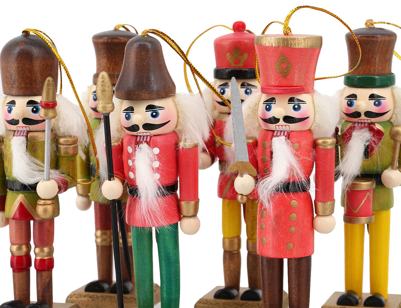 Amazon.com: La moriposa Nutcracker Soldier Sets Ornament Christmas ...
