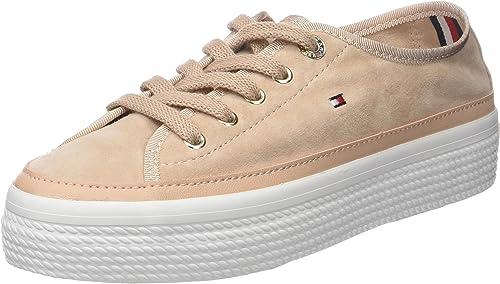 Tommy Hilfiger Suede Flatform Sneaker, Scarpe da Ginnastica Basse Donna