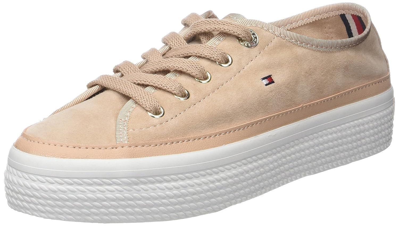 TALLA 38 EU. Tommy Hilfiger Suede Flatform Sneaker, Zapatillas para Mujer