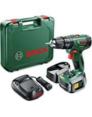 Bosch Cordless Hammer Impact Drill PSB 1800 LI-2 (2 Batteries, 18 Volt System, 1.5 Ah, in Case)