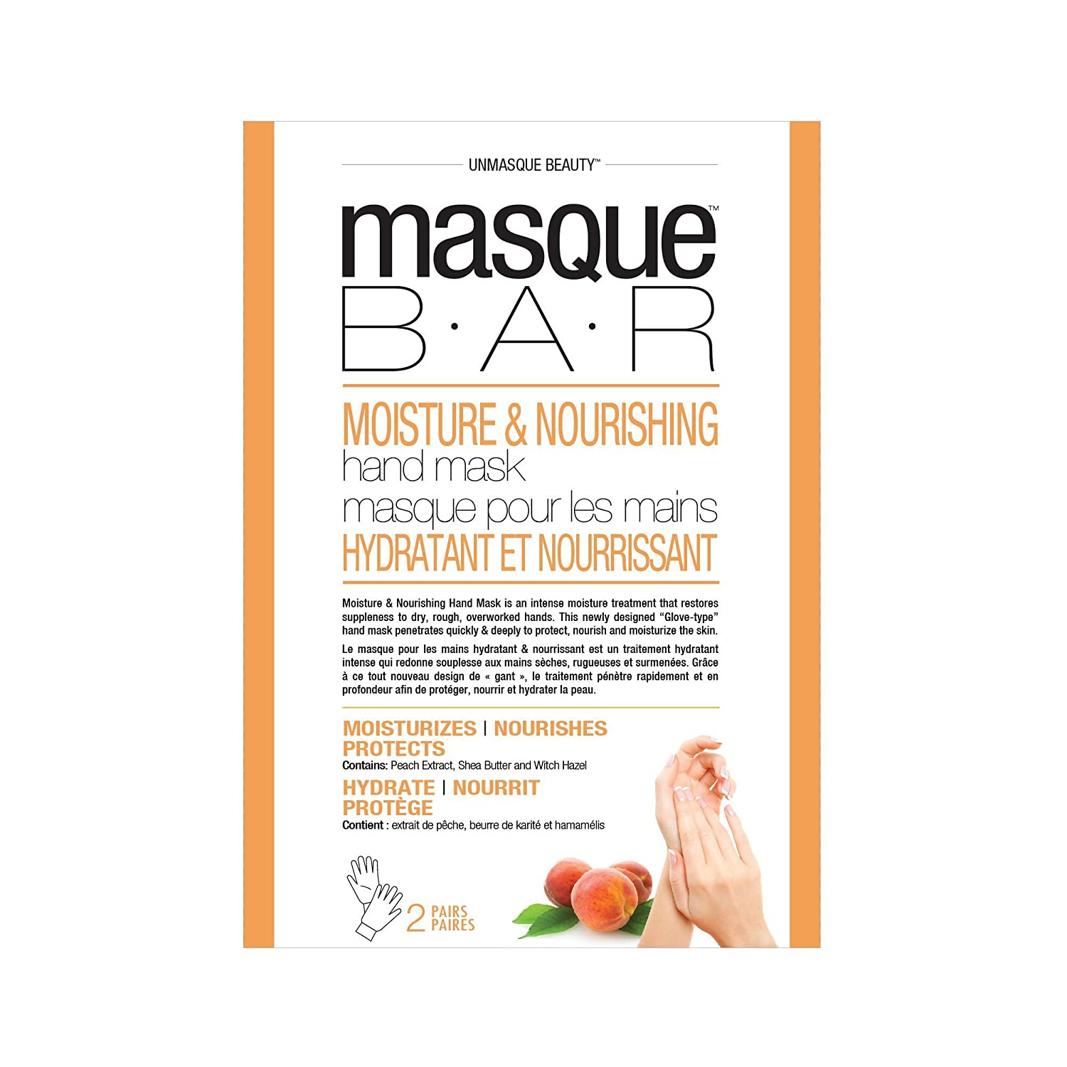 masque BAR Intensive Moisturizing Foot Mask - Complete Softening Masks to Remove Calluses, 2-set Look Beauty Inc