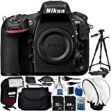 "Nikon D810 DSLR (Body Only) 14PC Accessory Bundle - Includes 64GB SD Memory Card + Automatic Flash with LED Light + 4 AA (3150mAh) NiMH Rechargeable Batteries + Soft Diffuser + 72"" Tripod + MORE"