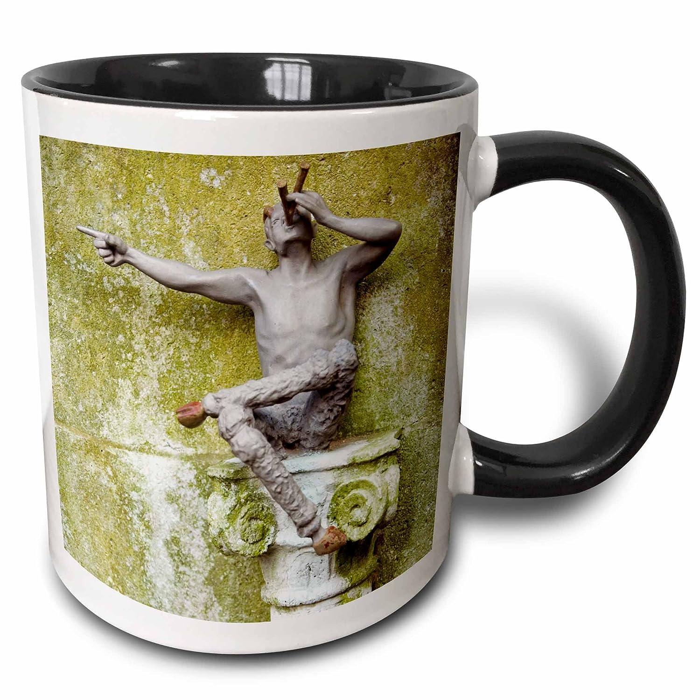 3dRose 88991/_4 Stone Wall Mug 11 oz Black//White