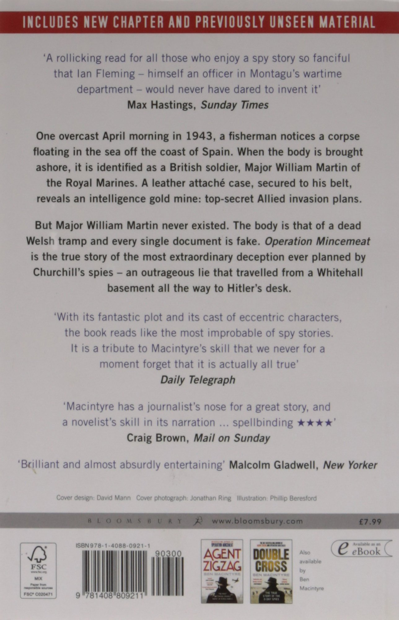 Operation Mincemeat: The True Spy Story That Changed The Course Of World  War Ii: Amazon: Ben Macintyre: 9781408809211: Books