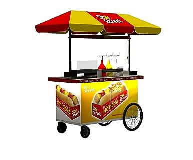 carro ambulante para la venta de hoy-dogs , refrescos y snack