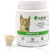 4-Beiner PARASITY-CAT – natürliche Zecken Abwehr, Zeckenschutz für Katzen mit Bierhefe und Zistrose, viele natürliche Vitamine & Mineralstoffe für Katzen, 90 g Pulver
