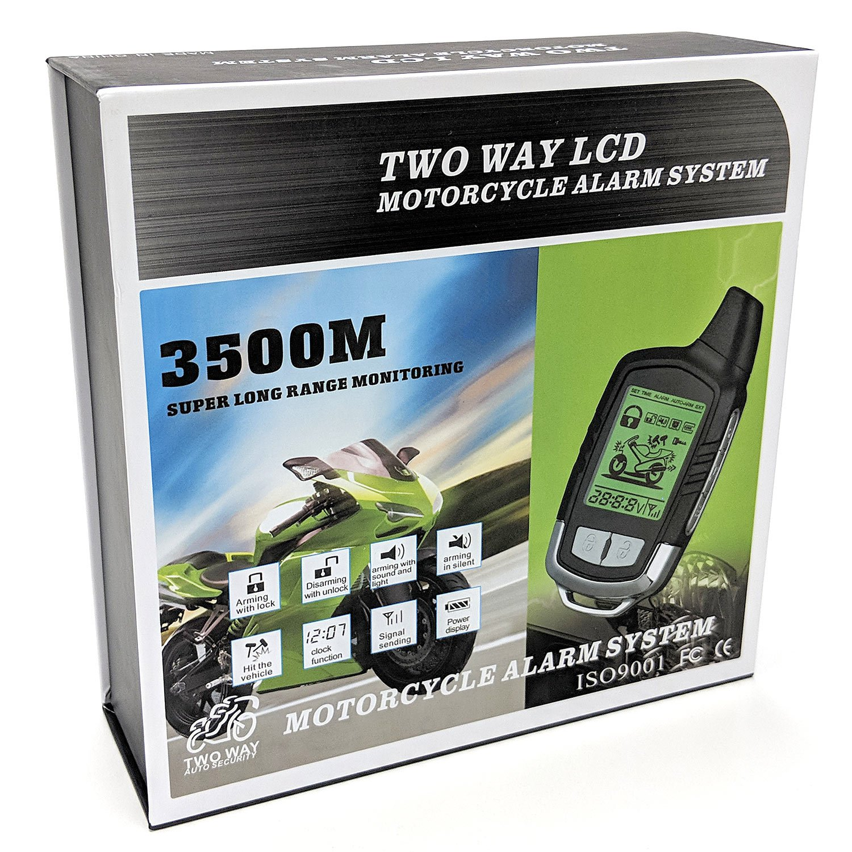 KapscoMoto 2 Way Motorcycle Alarm Pager Remote Engine Start For Suzuki GSXR GSX-R Gixxer Hayabusa 1300