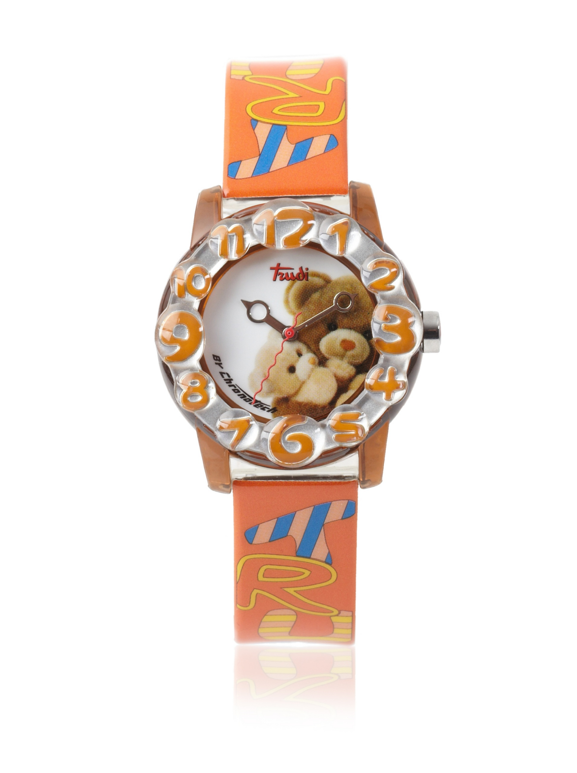 Trudi Kid's Teddy Bear Hugs Watch, Orange