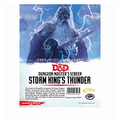 "Dungeons & Dragons - ""Storm Kings Thunder"" DM Screen: Toys & Games"