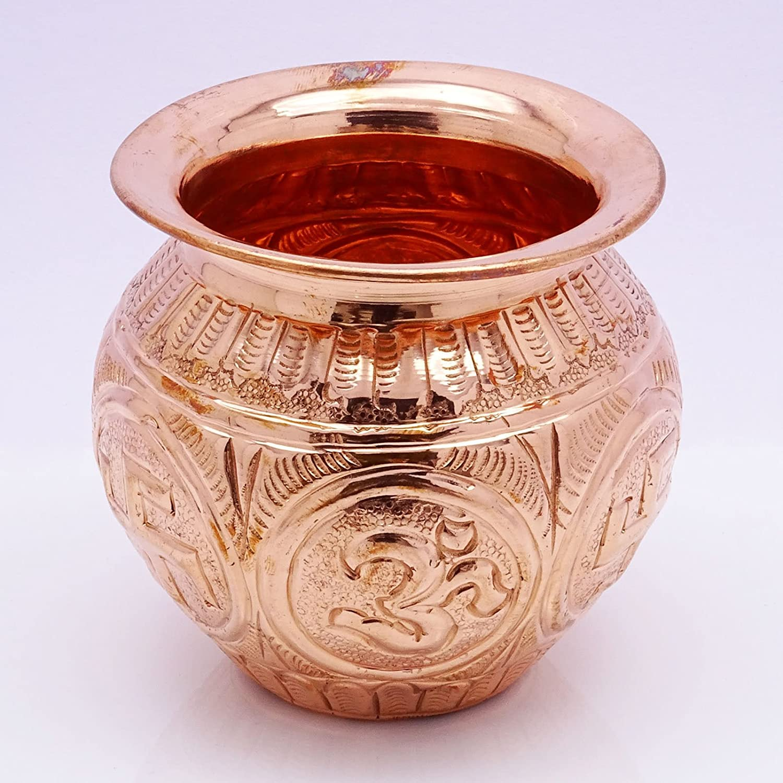 Neti Lota Ramjhara Prayer Kalash Pure Copper Traditional Hindu Pooja Item Pot