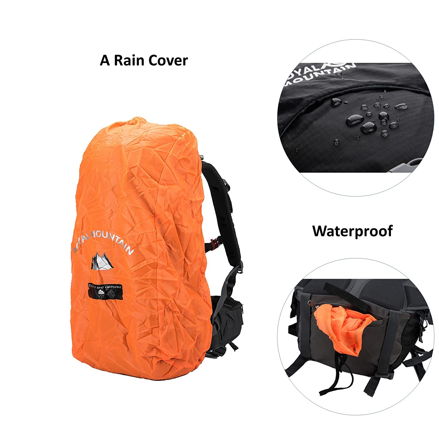 ROYAL MOUNTAIN Waterproof Climbing Daypack Outdoor Sports Hiking Backpack 50L