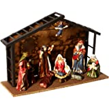 Kurt Adler Porcelain 10-Piece Nativity Set, 3.5-Inch to 5-Inch