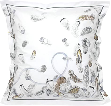 Linnea Taie doreiller 70x50 cm Percale Pur Coton Plumes