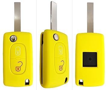 Carcasa CK+, para llave de coche, funda de silicona amarillo