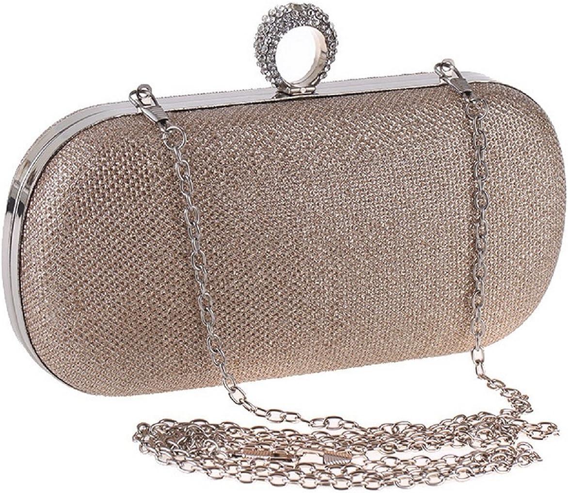 Bettyhome Women Lady Fresh Rhinestone Ring Shiny Evening Bag Party Handbags Wedding Clutches Purse