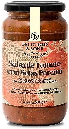 Delicious & Sons Salsa de Tomate con Setas Porcini