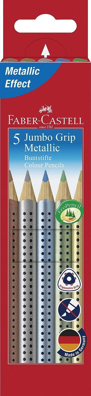 Faber-Castell 110993/5/Jumbo grip Metallic Colour Pencil