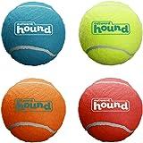 Outward Hound Squeaker Ballz Fetch Dog Toy, Medium - 4 Pack