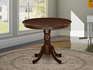 "East West Furniture ANT-MAH-TP Antique Dining Table, 36"" Round, Mahogany Finish"