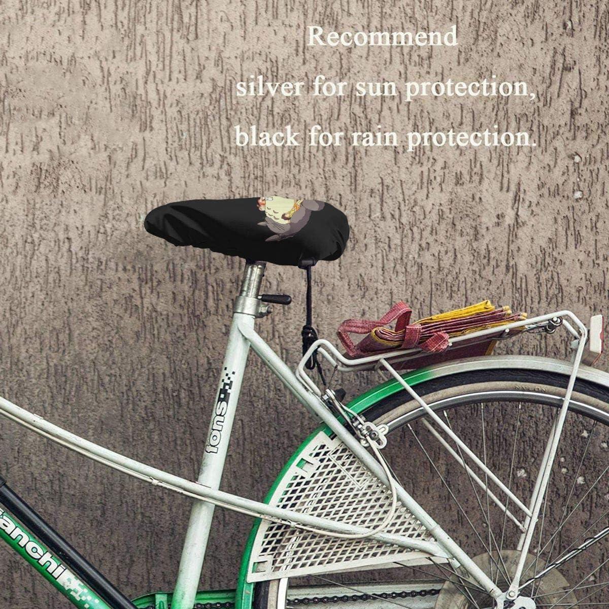 A Studio Ghibli Anime Art Waterproof Bicycle Seat Cover Elastic Waterproof Bicycle Seat Cover N